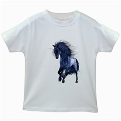 Blue Unicorn 1 Kids' T Shirt (white) by gatterwe