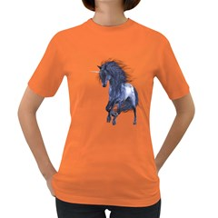 Blue Unicorn 1 Womens' T Shirt (colored) by gatterwe