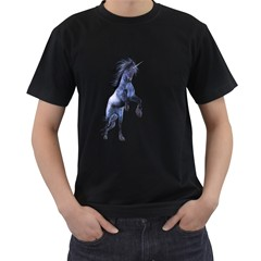 Blue Unicorn 3 Mens' Two Sided T Shirt (black) by gatterwe
