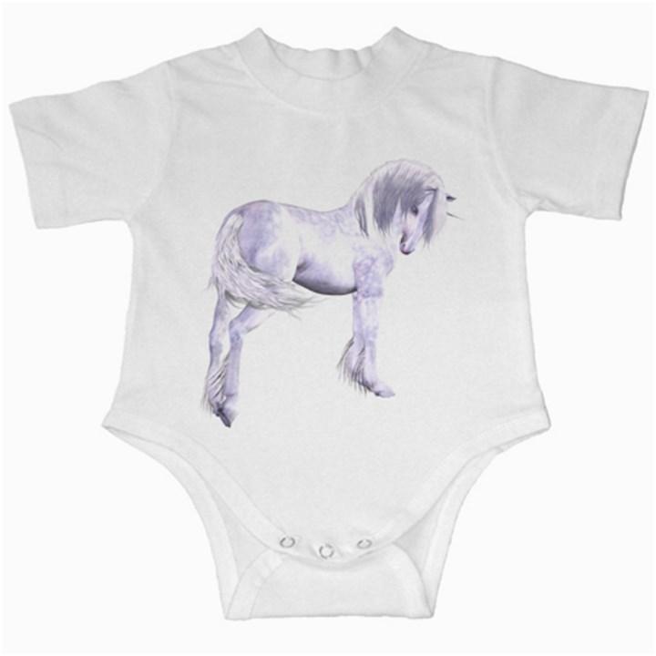 Silver Unicorn Infant Creeper