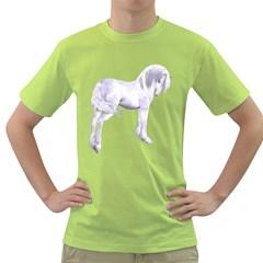 Silver Unicorn Mens  T Shirt (green) by gatterwe