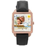 summer - Rose Gold Leather Watch