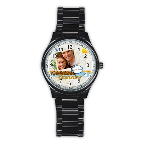 Summer By Joely   Stainless Steel Round Watch   Xskcq002m1sj   Www Artscow Com Front