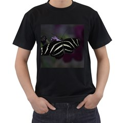 Butterfly 059 001 Mens' Two Sided T Shirt (black)