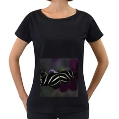 Butterfly 059 001 Womens' Maternity T Shirt (black) by pictureperfectphotography
