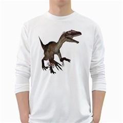 Utahraptor 1 Mens' Long Sleeve T Shirt (white)