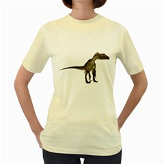 Utahraptor 2  Womens  T Shirt (yellow)