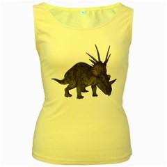 Styracosaurus 2 Womens  Tank Top (yellow) by gatterwe