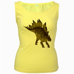 Stegosaurus 2 Womens  Tank Top (yellow) by gatterwe