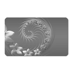 Gray Abstract Flowers Magnet (rectangular) by BestCustomGiftsForYou