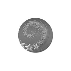 Gray Abstract Flowers Golf Ball Marker 4 Pack by BestCustomGiftsForYou