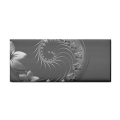 Gray Abstract Flowers Hand Towel by BestCustomGiftsForYou