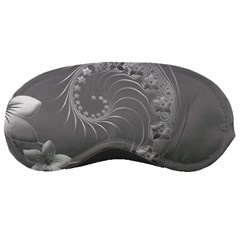 Gray Abstract Flowers Sleeping Mask by BestCustomGiftsForYou