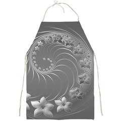 Gray Abstract Flowers Apron