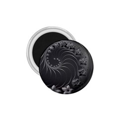 Dark Gray Abstract Flowers 1 75  Button Magnet by BestCustomGiftsForYou