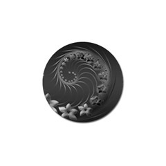 Dark Gray Abstract Flowers Golf Ball Marker 10 Pack by BestCustomGiftsForYou
