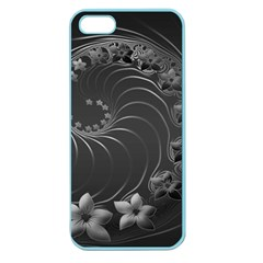 Dark Gray Abstract Flowers Apple Seamless Iphone 5 Case (color) by BestCustomGiftsForYou