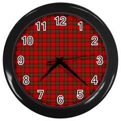 The Clan Steward Tartan Wall Clock (black) by BestCustomGiftsForYou