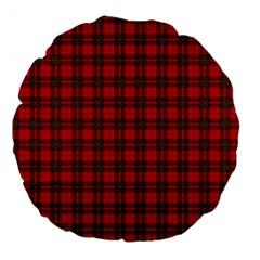 The Clan Steward Tartan 18  Premium Round Cushion