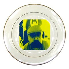 600 By 600 Image Porcelain Display Plate by supermarijuanaio