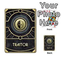 Dune Traitor, Bonus  By Rafael Fuentes   Multi Purpose Cards (rectangle)   83ndu76ju6h0   Www Artscow Com Back 8