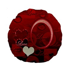 Red Love 15  Round Cushion Case By Ellan   Standard 15  Premium Round Cushion    Mqs0pd7acybo   Www Artscow Com Back