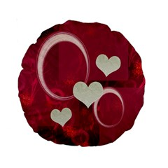 I Heart You Pink 15  Round Cushion Case By Ellan   Standard 15  Premium Round Cushion    68q3f96fhntg   Www Artscow Com Front