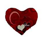 I Heart You Red Love 16  heart cushion - Standard 16  Premium Heart Shape Cushion