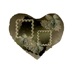 Silver 16  Heart Cushion By Ellan   Standard 16  Premium Heart Shape Cushion    Tcw0vhsplv29   Www Artscow Com Front
