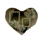 silver 16  heart cushion - Standard 16  Premium Heart Shape Cushion