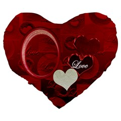 Red Love 19  Heart Cushion By Ellan   Large 19  Premium Heart Shape Cushion   9cgabhfujxj4   Www Artscow Com Back