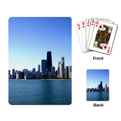 Chicago Skyline Playing Cards Single Design by canvasngiftshop