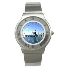 Chicago Skyline Stainless Steel Watch (unisex) by canvasngiftshop