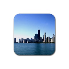 Chicago Skyline Drink Coaster (square) by canvasngiftshop