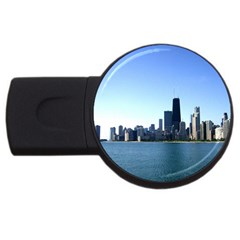 Chicago Skyline 2gb Usb Flash Drive (round) by canvasngiftshop