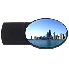 Chicago Skyline 2gb Usb Flash Drive (oval)