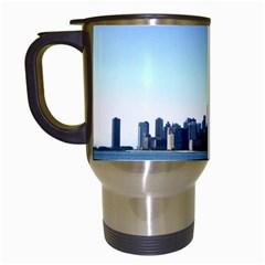 Chicago Skyline Travel Mug (white) by canvasngiftshop