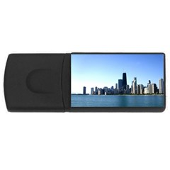 Chicago Skyline 4gb Usb Flash Drive (rectangle) by canvasngiftshop