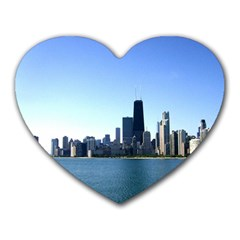 Chicago Skyline Mouse Pad (heart) by canvasngiftshop