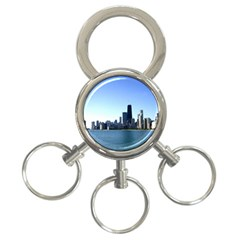 Chicago Skyline 3 Ring Key Chain by canvasngiftshop