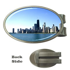 Chicago Skyline Money Clip (oval) by canvasngiftshop