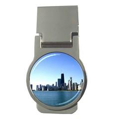 Chicago Skyline Money Clip (round) by canvasngiftshop