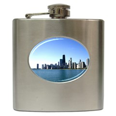 Chicago Skyline Hip Flask by canvasngiftshop