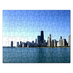 Chicago Skyline Jigsaw Puzzle (rectangle) by canvasngiftshop