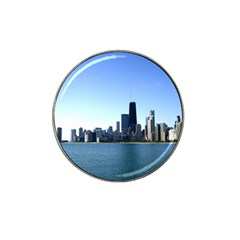 Chicago Skyline Golf Ball Marker 4 Pack (for Hat Clip) by canvasngiftshop
