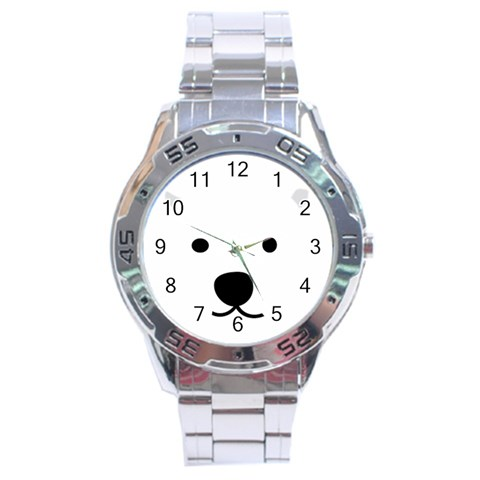 Bear By Divad Brown   Stainless Steel Analogue Watch   Vy4dh4ugrmye   Www Artscow Com Front