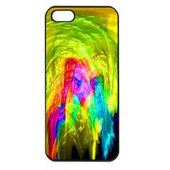 Painted Forrest Apple Iphone 5 Seamless Case (black) by masquerades