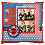 usa 4 july - Large Cushion Case (One Side)