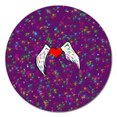 Your Heart Has Wings So Fly   Updated Magnet 5  (round) by KurisutsuresRandoms
