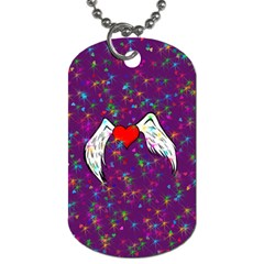 Your Heart Has Wings So Fly   Updated Dog Tag (one Sided) by KurisutsuresRandoms